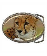 LEOPARD, PANTHER BELT BUCKLE CHROME FINISH - $12.99