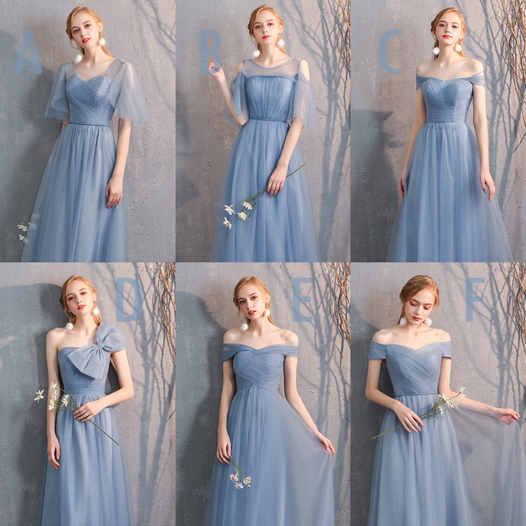 Bridesmaid tulle dress light gray 14