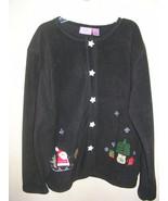 Ugly Christmas Sweater / Cardigan, Size L Black , Premier International ... - £7.60 GBP