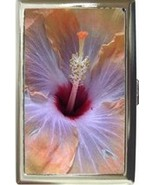 GORGEOUS HIBISCUS TROPICAL FLOWER CIGARETTE CARD CASE - $16.99