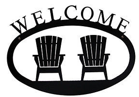 Wrought Iron Welcome Sign Adirondack Chairs and 24 similar items