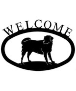 Wrought Iron Welcome Sign Dog Silhouette Small Outdoor Plaque Home Decor... - $21.99