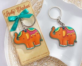 """Lucky Elephant"" Key Chain Key Ring Wedding Favor Reception Gift Party G... - $8.98"