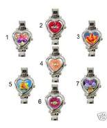 "L@@K! PRETTY ""MOM"" FLOWER HEART CHARM WATCH 7 DESIGNS! - $23.99"