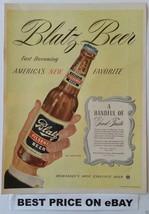 """Blatz Beer"" Special Pilsener Brew 1944 Magazine Ad Page--America's New ... - $9.75"