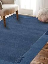 Rugsotic Carpets Hand Knotted Tibbati Wool 8'x11' Area Rug Solid Blue T0... - $566.00