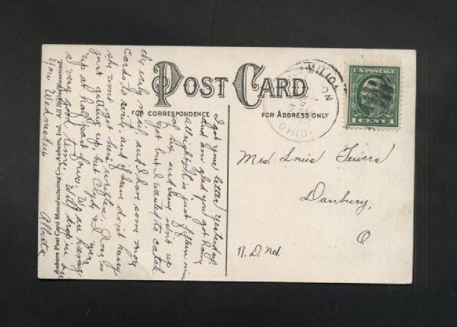 Vintage Postcard 1912 Vermilion Ohio Pennant OH