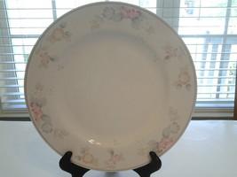 """Pfaltzgraff Wyndham Dinner Plate Pink Flowers Grey Rim 10 1/2"""" - $9.99"""