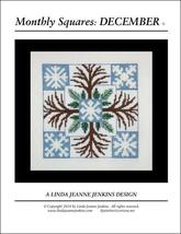 Monthly Squares December cross stitch chart Lin... - $6.00