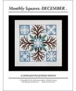 Monthly Squares December cross stitch chart Linda Jeanne Jenkins - $6.00