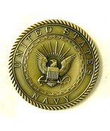 USN Challenge Coin United States Navy Sailors Creed Medallion Antique Br... - $24.22
