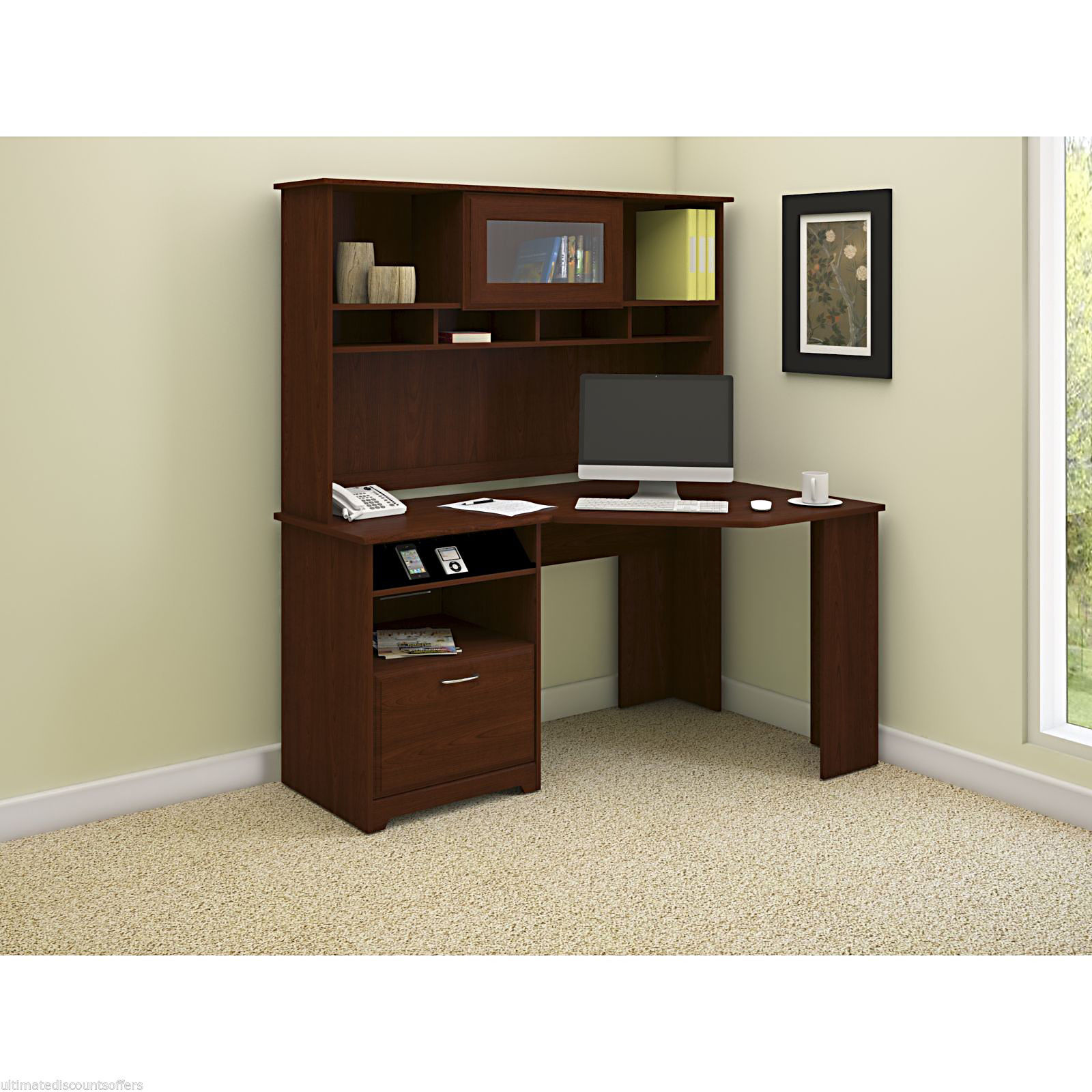 Wonderful image of  Wood Hutch Computer Business Modern Desks & Home Office Furniture with #332013 color and 1600x1600 pixels