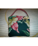 SALE! Handmade Vintage Tropical Barkcloth Market Tote Purse Millinery Fl... - $31.99