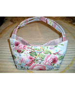 SALE! Handmade Vintage Barkcloth and Ralph Lauren Water Floral Fabric Pu... - $32.99