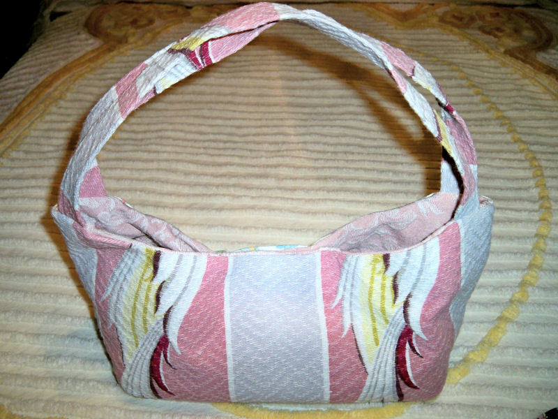 SALE! Handmade Vintage Barkcloth and Ralph Lauren Water Floral Fabric Purse