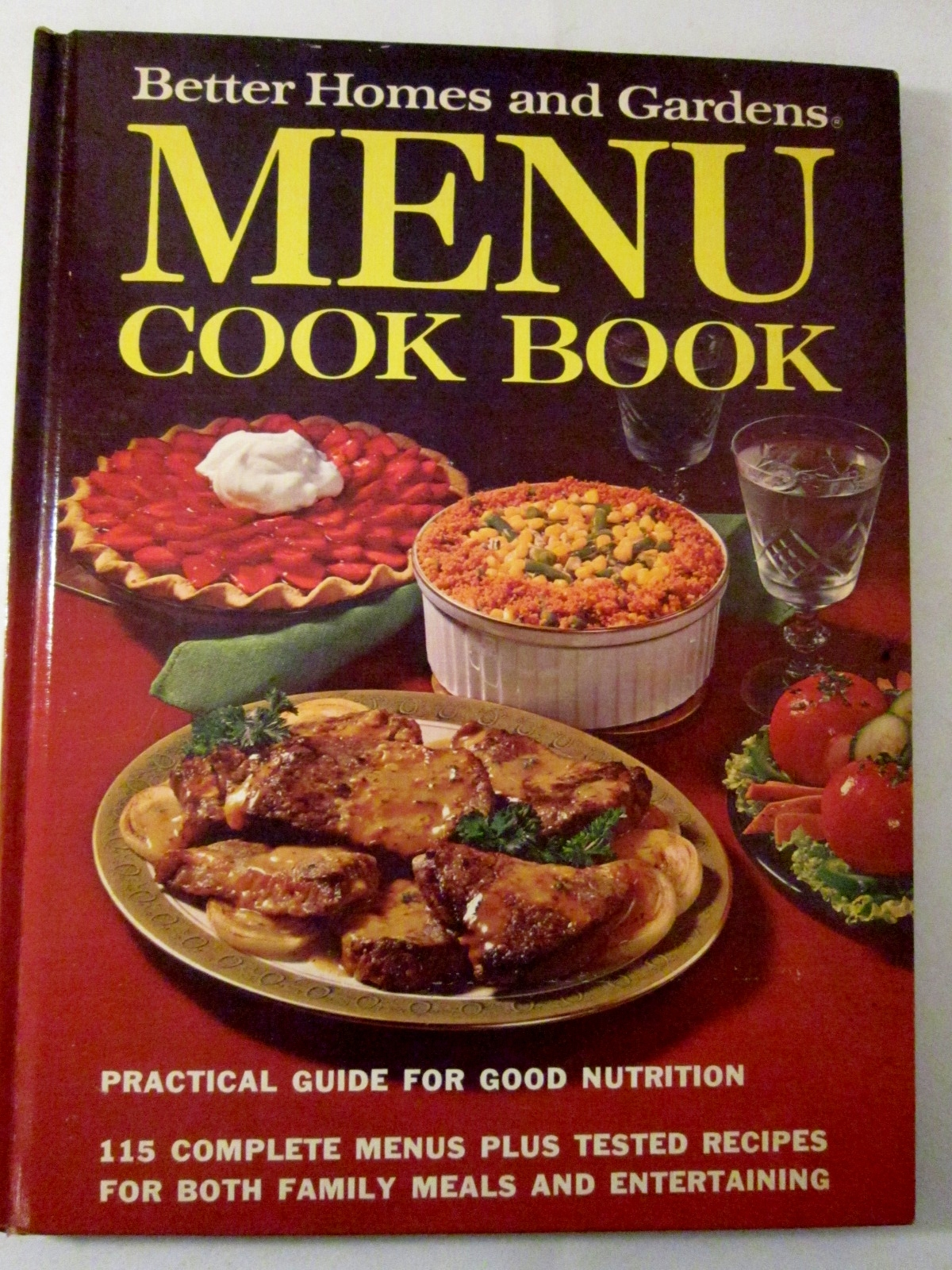 Menu Cook Book 1972 Better Homes And Gardens First Edition Hardcover Cookbooks