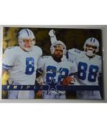 Triplets Cowboys-  Aikman, Smith, Irwin      Pinnacle 1996   #147 - £4.66 GBP