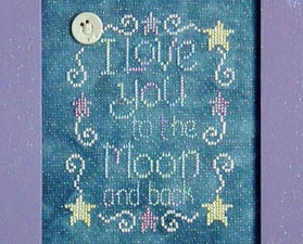Love You To The Moon and Back Moon-Lite cross stitch chart Waxing Moon Designs