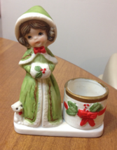 Vintage Jasco Christmas Luvkins 1979 porcelain figurine Holiday - $18.00