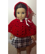 "Handmade Crochet American Girl or 18"" Doll Clothes: Cape, Hat, and Boots - $10.00"