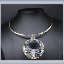 Gargantuous One Crystal Rhinestone Diamond Cut Glory Stone Choker Necklace