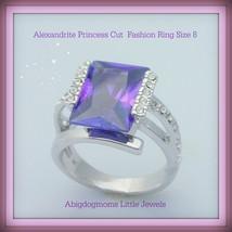 Alexandrite princess cut fashion ring square thumb200