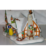 Disney Snow White Cottage 1994 Danbury Mint Christmas Cottage Winter Won... - $298.95