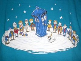 "TeeFury Doctor Who YOUTH MEDIUM ""Doctor Whoville"" Dr. Seuss Mash Up TURQ... - $11.00"
