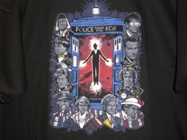 "TeeFury Doctor Who LARGE ""Time Will Tell"" Tribute Shirt BLACK - $20.00"