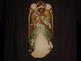 """TeeFury D YOUTH LARGE """"Almost There"""" Princess T Art Nouveau Shirt BROWN - $11.00"""