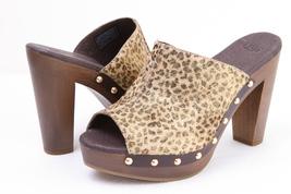 UGG Australia SKYLER METALLIC Calf Hair Studded Heels Clogs - Size 6 - $107.00