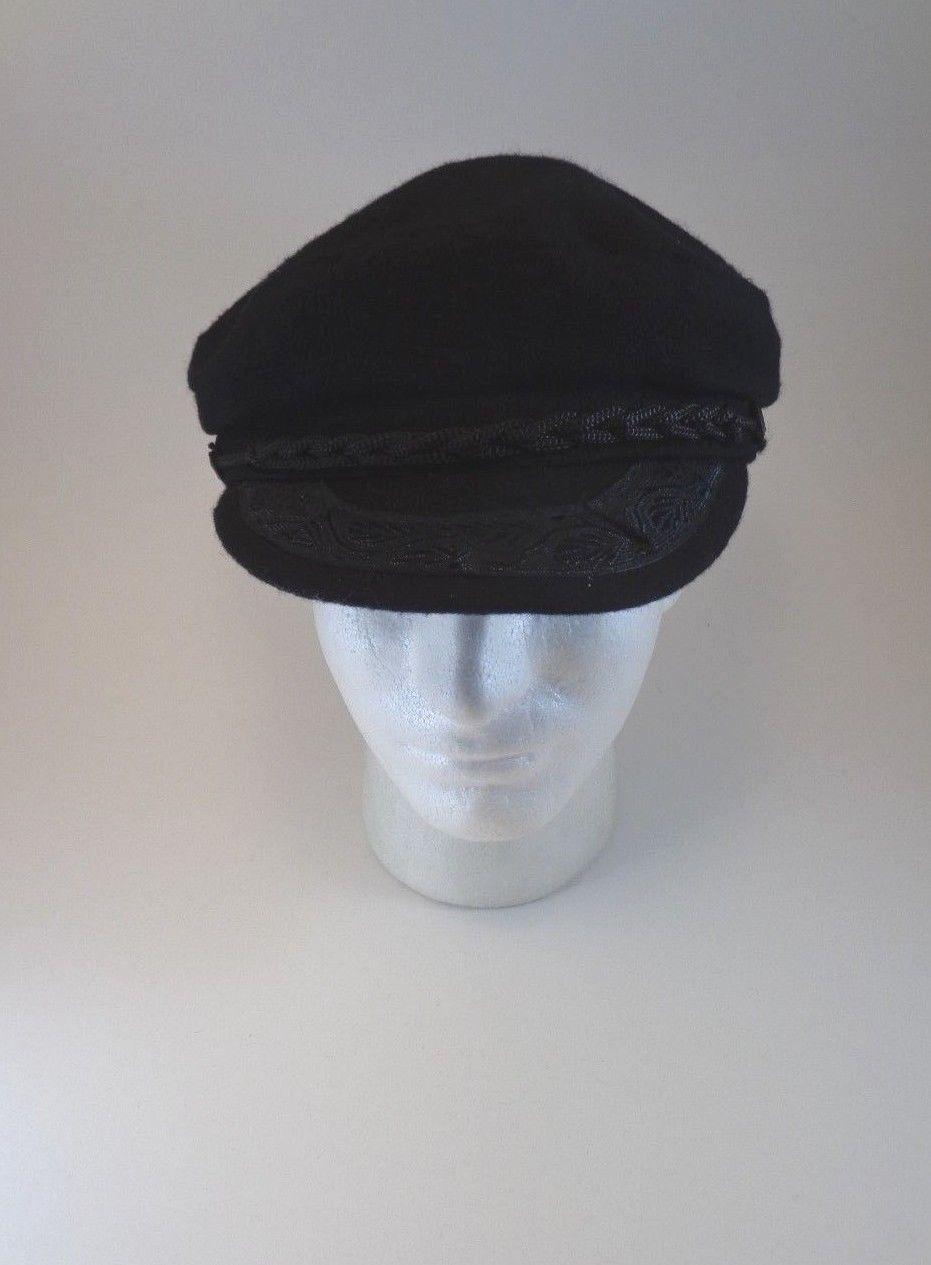 Greek Fisherman's Men's Black Sailor Hat Cap Karfil Hats Greece Fish Ship Large