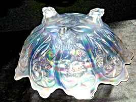 White Imperial Carnival Glass Bowl AA19-1530 Vintage image 8