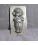 Vintage Anton Reiche Dresden Chocolate Mold, Plattinol, Baby with Headph... - $116.74