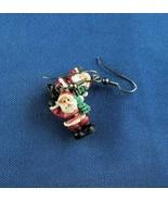 Vintage Christmas Plastic Santa Earrings Free Shipping - $9.05