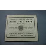 1938 Rawlins, WY Softball League Score Book - $9.49