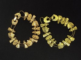 Classic TOFA Nativity Slider Charm Bracelet ~ Choice Of Gold or Bronze T... - $9.95