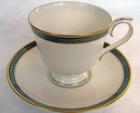 Lenox China Langdon Gate Ambassador Collection Footed Cup & Saucer Mint Conditon