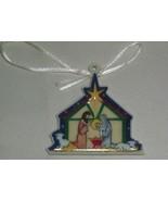 Longaberger Nativity Manger Scene Basket Christmas Holiday Tie On New In... - $9.85
