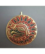 VTG Rare Crown Trifari Large Pendant Medallion ... - $44.54