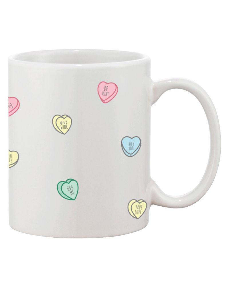 Cute Valentine's Day Gift Ceramic Coffee Mug - Valentine Sweethearts Candy Mug