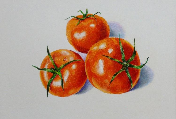 "Akimova: TOMATOES, food, still life, approx. size 14""x11"""