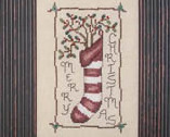 Primitive Greetings christmas holiday cross stitch chart Waxing Moon Designs