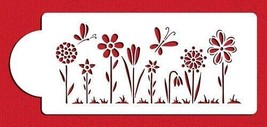 Whimsical Flowers Cake Stencil #C479 - $9.00