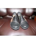 Clarks Collection Soft Cushion Leather Black, W/Buttons Shoes Size 9M Wo... - $28.35