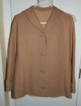 VTG JABLOW Original Camel Tweed Lined Blazer Jacket Coat Size 12 - $49.50