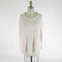 M - Eri + Ali Anthropologie Pale Pink Thermal Knit Long Sleeve Shirt Top... - $24.00