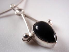 Trendy Black Onyx 925 Sterling Silver Necklace New Corona Sun Jewelry - €15,63 EUR