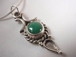 New Ethnic Malachite 925 Sterling Silver Necklace India - €15,41 EUR