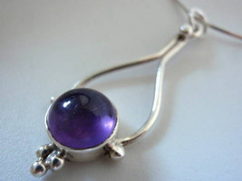 New Amethyst 925 Sterling Silver Necklace India New - €17,99 EUR